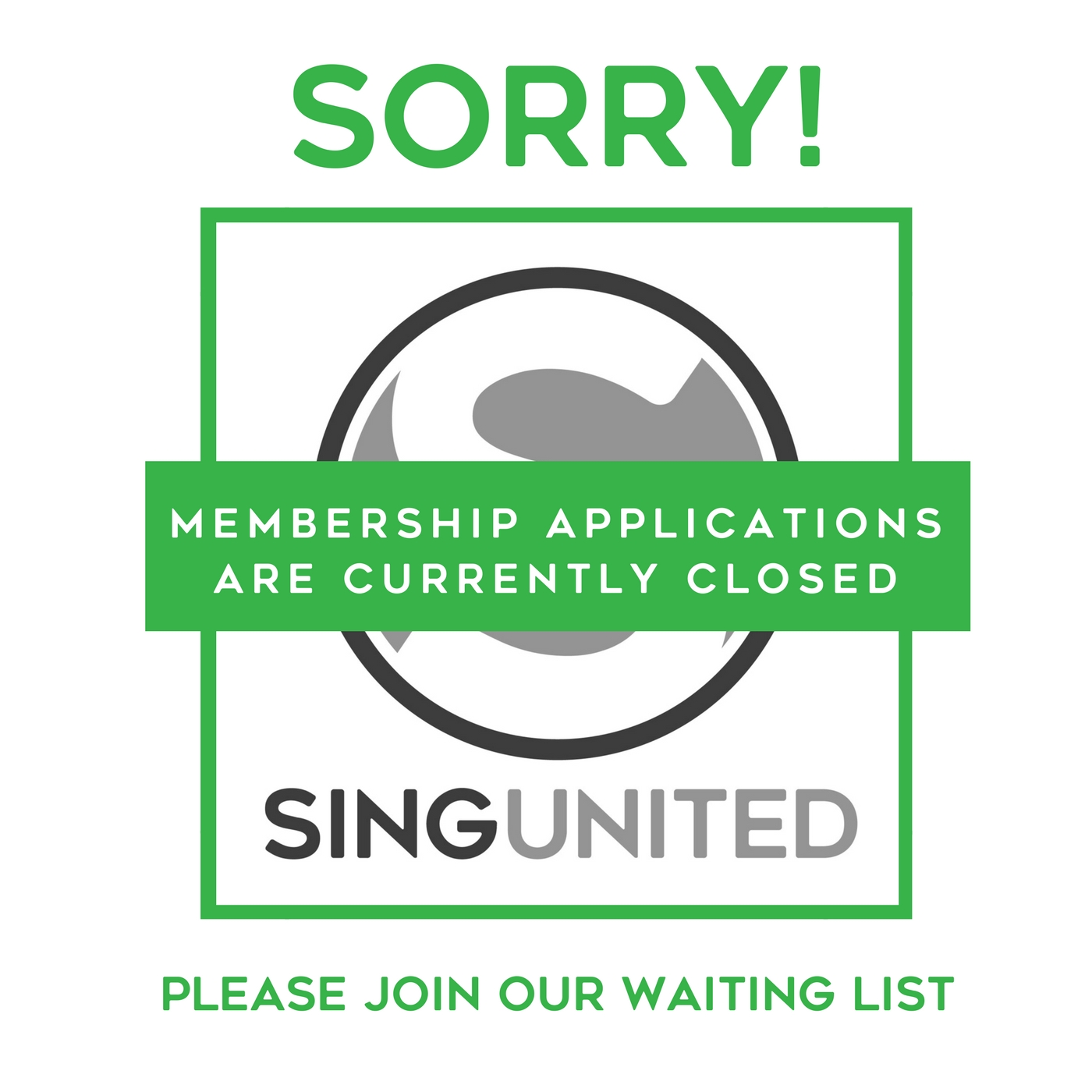 Sing United Newcastle Member Applications