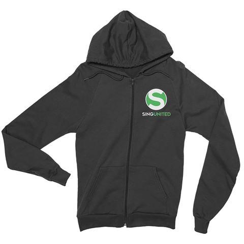 Sing United Zip logo Hoodie front