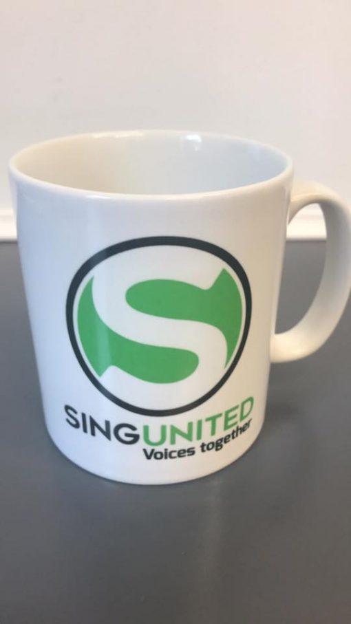 Sing United Green Heart Army Mug
