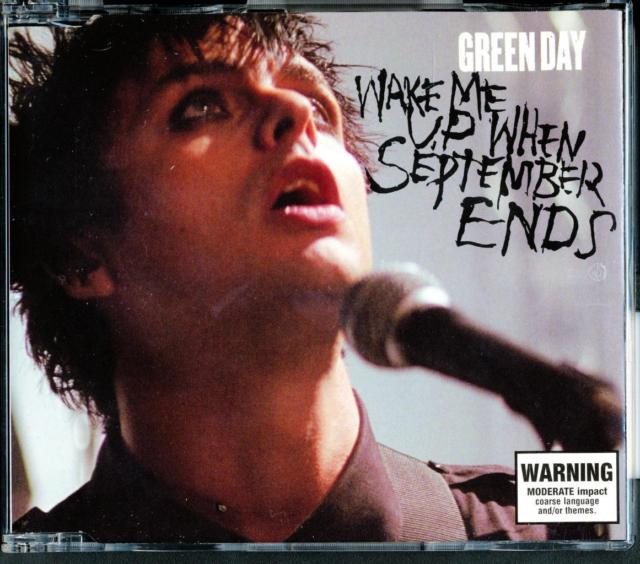 Green Day's Wake Me Up When September Ends Album Cover