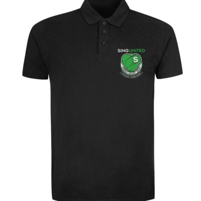 Sing United Green Heart Army Emblem Polo