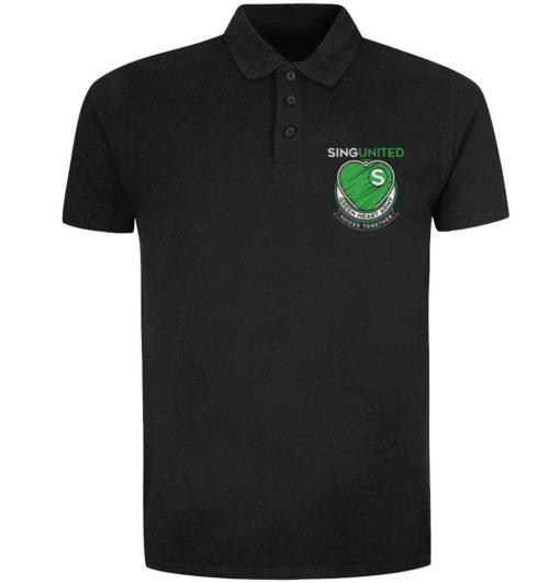 Sing United Green Heart Army Emblem Polo