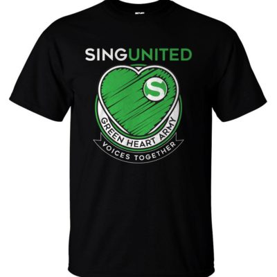 Sing United Green Heart Army Emblem T Shirt