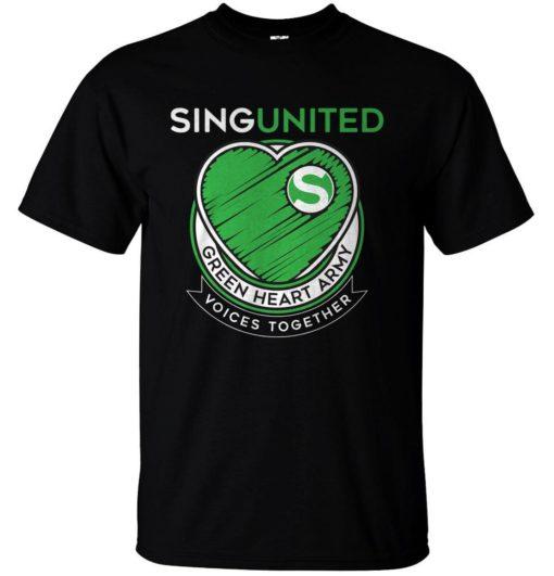 Sing United Green Heart Army Emblem T Shirt